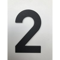 Aluminium House Number - Model C32 -  number 2