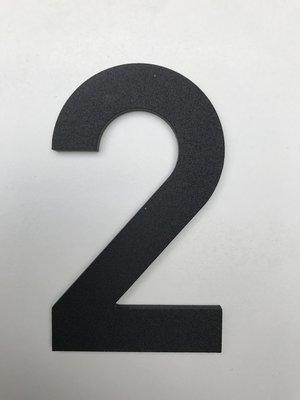 Albo Aluminium huisnummer - Model C32 - cijfer 2