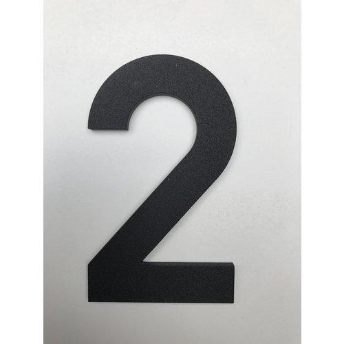 Albo Numéro de maison en aluminium - Modèle C32 - numéro 2
