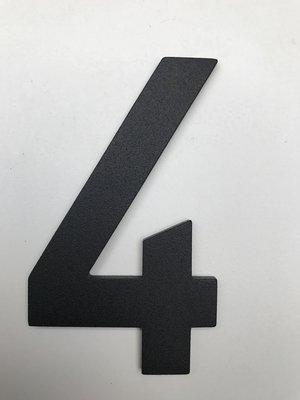 Albo Aluminium huisnummer - Model C32 - cijfer 4