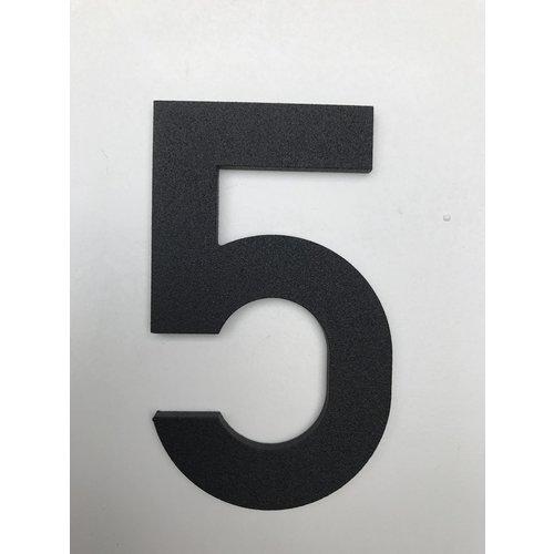 Albo Aluminium huisnummer - Model C32 - cijfer 5