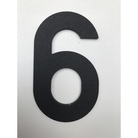 Aluminium House Number - Model C32 -  number 6