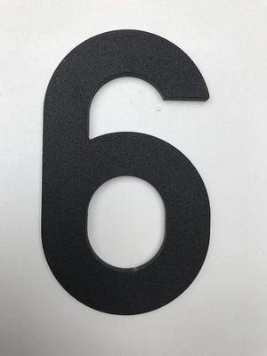 Albo Aluminium huisnummer - Model C32 - cijfer 6