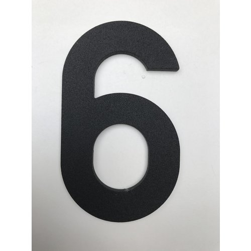 Albo Numéro de maison en aluminium - Modèle C32 - numéro 6