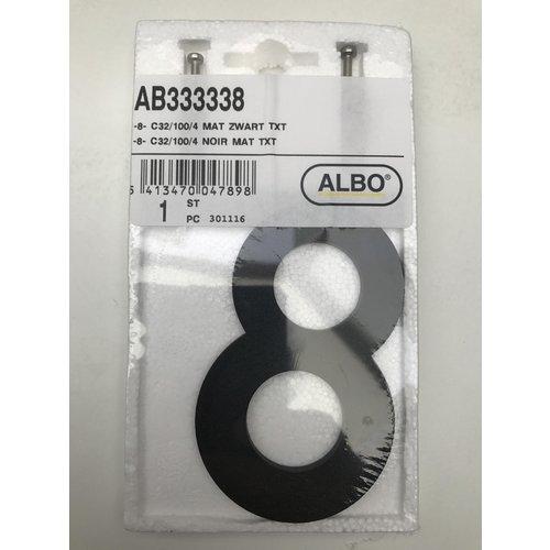 Albo Numéro de maison en aluminium - Modèle C32 - numéro 8