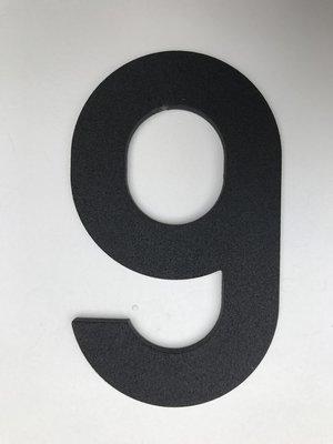 Albo Aluminium huisnummer - Model C32 - cijfer 9