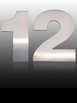 Mailbox design Inox RVS huisnummer - Arte - cijfer 0
