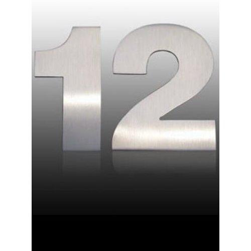 Mailbox design Inox RVS huisnummer - model Arte - cijfer 2