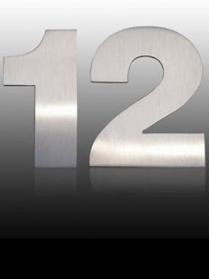 Mailbox design Inox RVS huisnummer - Arte - cijfer 7