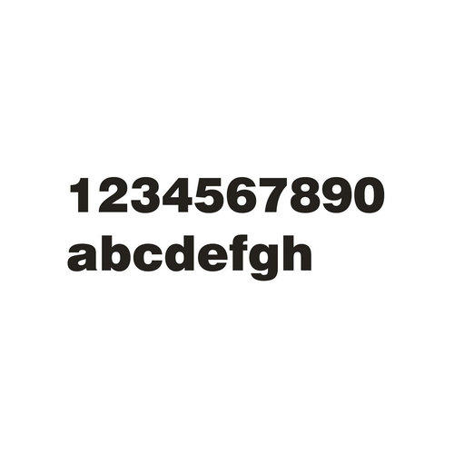 Mailbox design Numéro de maison en acier inoxydable - modèle Arte- numéro 8