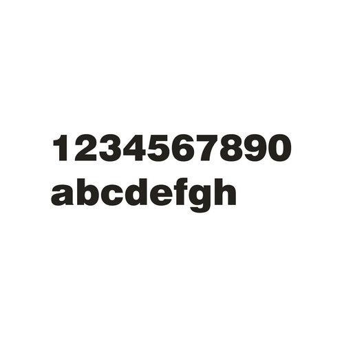Mailbox design Stainless Steel House Number - model Arte - Letter b
