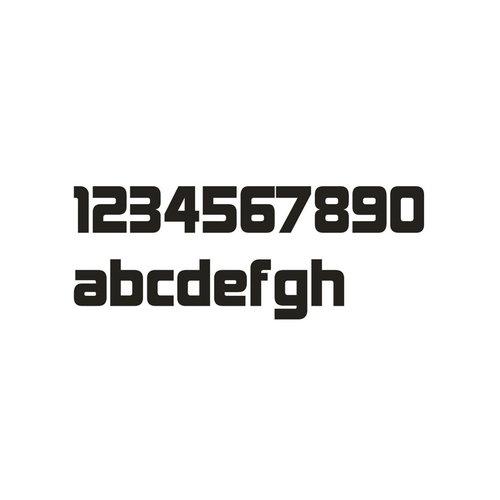 Mailbox design Numéro de maison en acier inoxydable - modèle Design- numéro 6