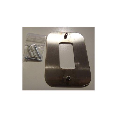 Mailbox design Inox RVS huisnummer - model Design - cijfer 4
