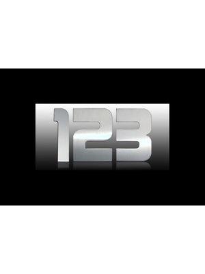Mailbox design Inox RVS huisnummer - Design - cijfer 2