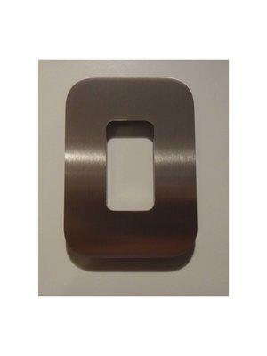 Mailbox design Inox RVS huisnummer - Design - cijfer 0