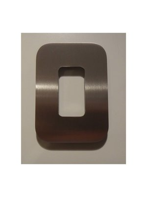 Mailbox design Numéro de maison en acier inoxydable - Design - numéro 0