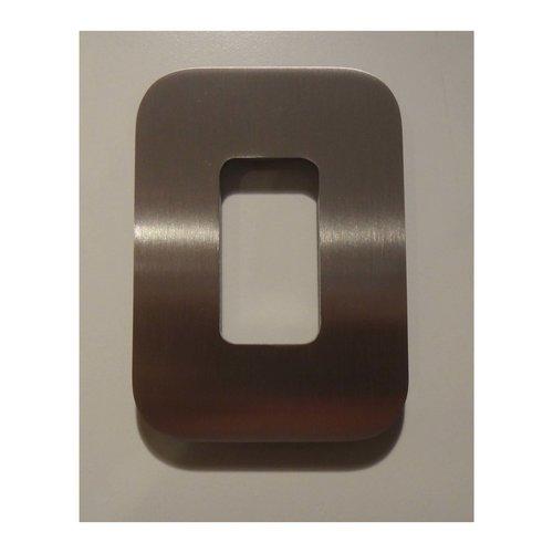 Mailbox design Stainless Steel House Number - model Design - number 0