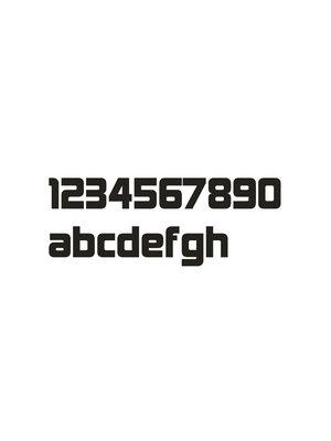 Mailbox design Numéro de maison en acier inoxydable - Design - lettre a