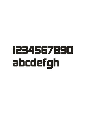 Mailbox design Inox RVS huisnummer - Design - letter b