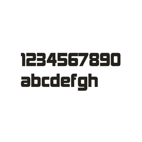 Mailbox design Numéro de maison en acier inoxydable - modèle Design - lettre b
