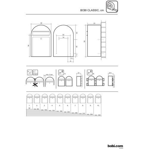 Bobi Bobi - Classic - Stainless steel Letterbox