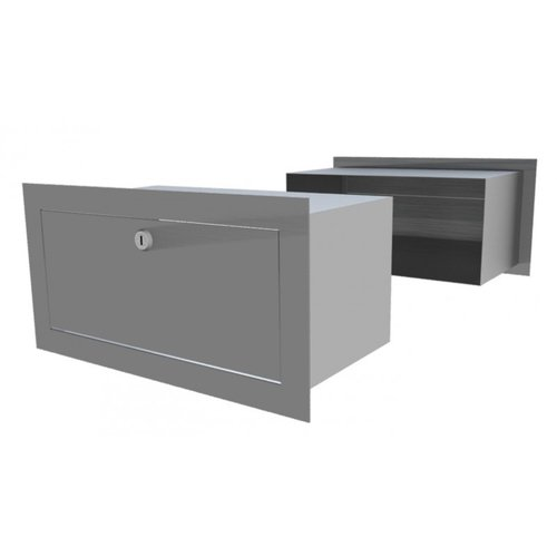 Galaxy Mailboxes Though The Wall Letterbox Centauri-  Stainless - Steel