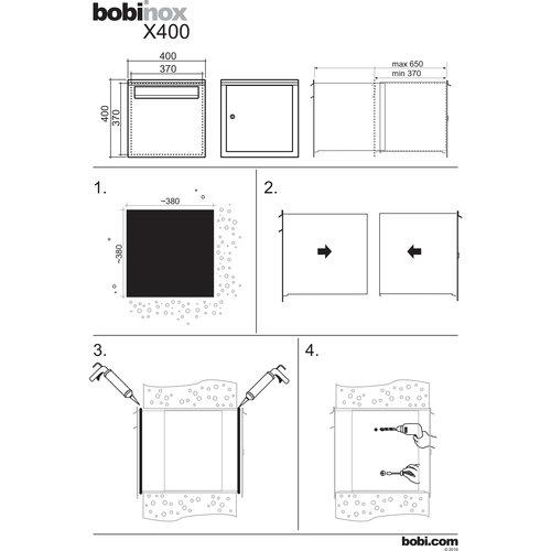Bobi Column  Mounted Letterbox - BOBI X400