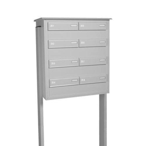 Mailbox design Letterbox ensemble in aluminium for 8 flats