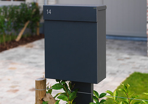 Post mounted mailboxes