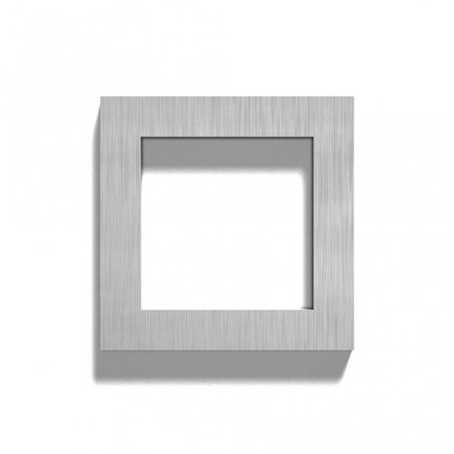 Mailbox design Stainless Steel House Number - model  Square, number 0