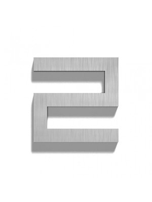 Mailbox design Inox RVS huisnummer - Square, cijfer 2