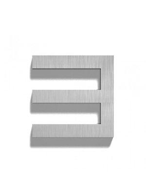 Mailbox design Inox RVS huisnummer - Square, cijfer 3