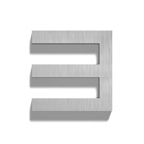 Mailbox design Stainless Steel House Number - model  Square, number 3