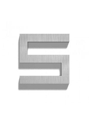 Mailbox design Inox RVS huisnummer - Square, cijfer 5