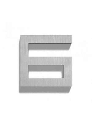 Mailbox design Inox RVS huisnummer - Square, cijfer 6