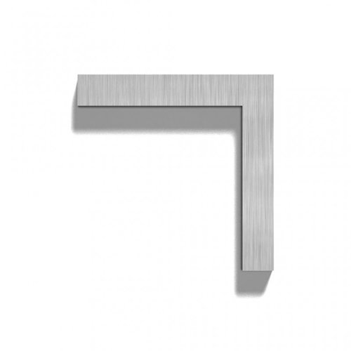 Mailbox design Stainless Steel House Number - model  Square, number 7