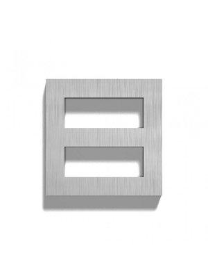 Mailbox design Numéro de maison en acier inoxydable - Square, numéro 8