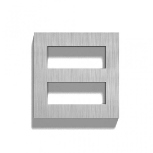 Mailbox design Stainless Steel House Number - model  Square, number 8