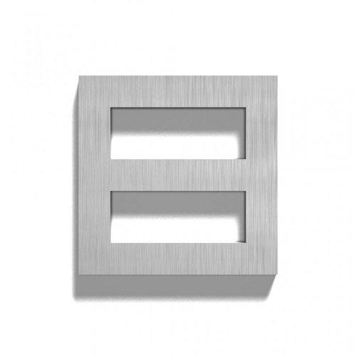 Mailbox design Inox RVS huisnummer -  model Square, cijfer 8