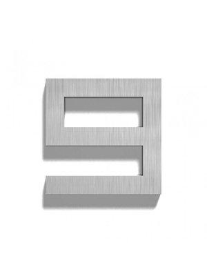 Mailbox design Inox RVS huisnummer - Square, cijfer 9