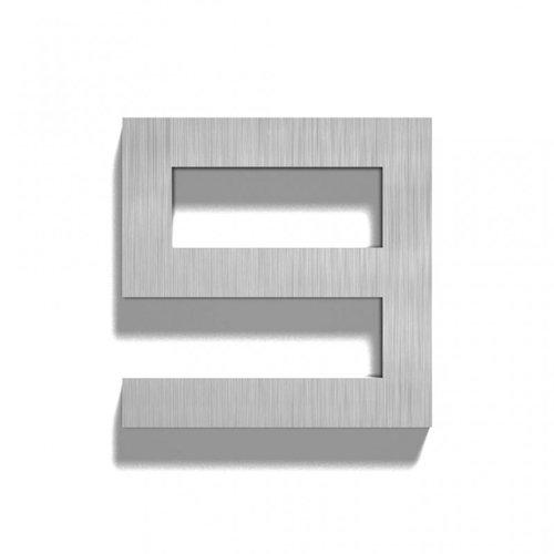 Mailbox design Inox RVS huisnummer -  model Square, cijfer 9