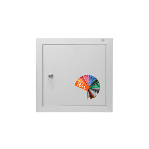 Albo Aluminium brievenbusdeur 529/2 - RAL kleur naar keuze
