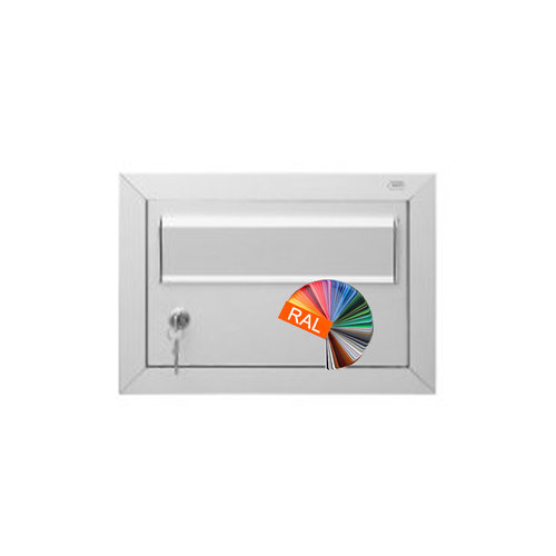 Albo Aluminium Letterbox Door - 529/1/H/505 - RAL Color of your choice