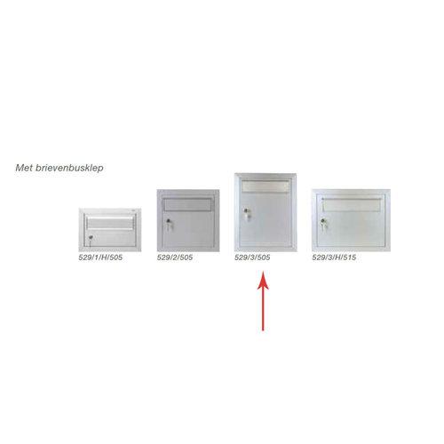 Albo Aluminium Letterbox Door - 529/3/505