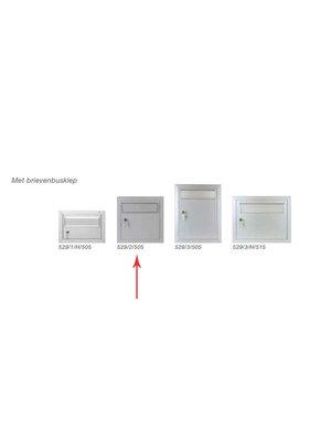Albo Aluminium Letterbox Door - 529/2/505