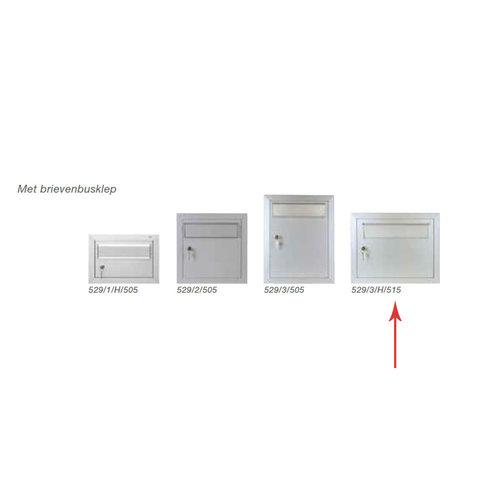 Albo Aluminium brievenbusdeur 529/3/H/515 - Geanodiseerd