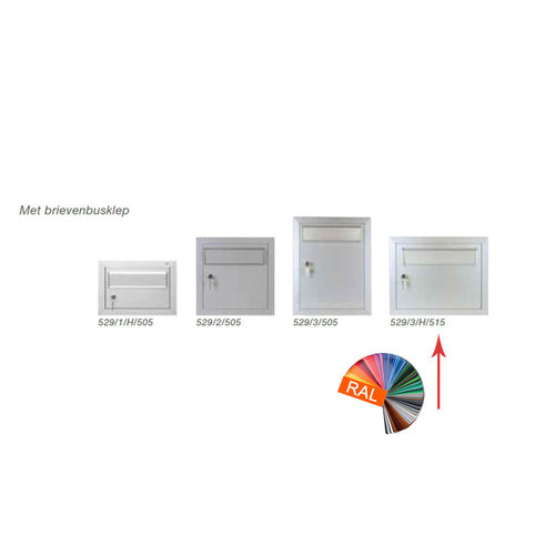 Albo Aluminium Letterbox Door - 529/3/H/515 - RAL Color of your choice