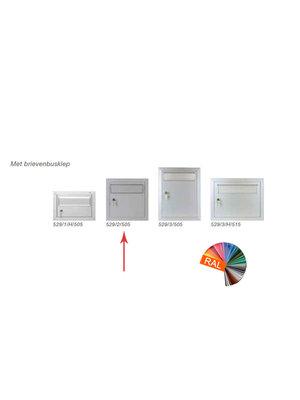 Albo Aluminium brievenbusdeur - 529/2/505