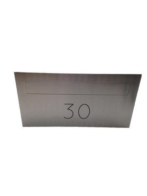 Galaxy Mailboxes Inbouw brievenbus Centauri  met gravure van uw huisnummer