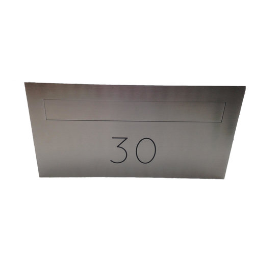 Galaxy Mailboxes Galaxy - Centauri - Stainless - Steel - With - House - Number